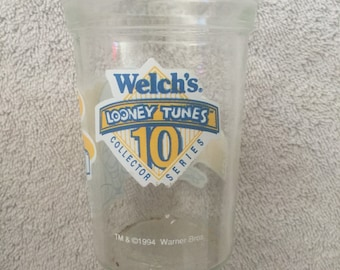 1994 Welchs Bugs Bunny and Yosemite Sam Juice Glass