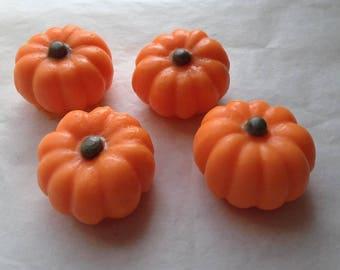 Pumpkin Soap, Set of 4 Soaps, Fall Soap, Autumn Soap, Thanksgiving Harvest Soap, Novelty Soap, You pick scent & color