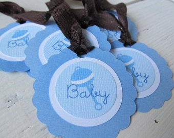 Baby Boy Gift Tags Set of 6 Favour Tags