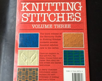 Harmony Guide to Knitting Stitches Volume 3 Paperback