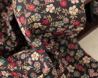 """Brushed Cotton Fabric 0.80"""" (2 cm) Floral By The Yard"""