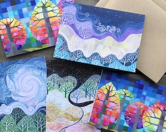 Art Cards Collection 1: Trees and Stars