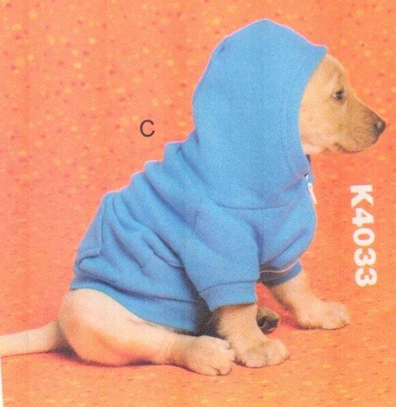 SALE** Kwik Sew 4033, Sz XS-XL. Dog Clothes, Dog Coat/Hoodie ...
