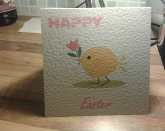 Handmade Happy Easter Card - Style 2 - Cute Little Chick