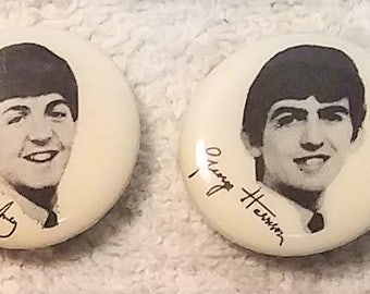 4 Beatles Pins 1964 Vintage