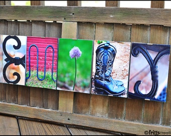 KIDS NAME SIGN  Alphabet Photography - framed names for wall decor, teen room decor in letter photos, childrens decor