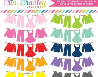 80% OFF SALE Laundry Line Clipart, Clothing Line Clip Art Graphics, Laundry Bunting, Personal & Commercial Use Graphics
