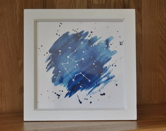 Aquarius Star Sign Framed Artwork