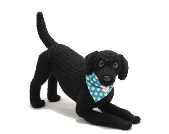 Black Labrador Retriever Doll