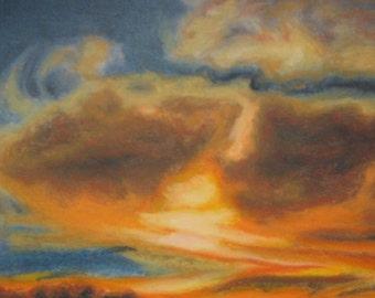 Pastel Sunset, pastel painting