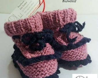 """Baby shoes """"Cutie Pie"""" made of fair organic wool"""