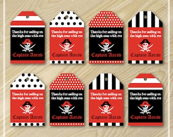 Pirate Party - Pirate Party Favor Tags - Printable Favor Tags