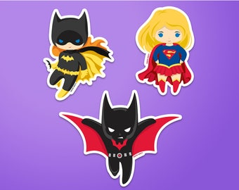 DC Heroes Stickers