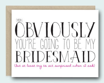 Funny Bridesmaid Card | Bridesmaid Ask Card | Bridesmaid Card | Be My Bridesmaid | Funny Bridesmaid | Bridesmaid Gift | Bridesmaid Proposal
