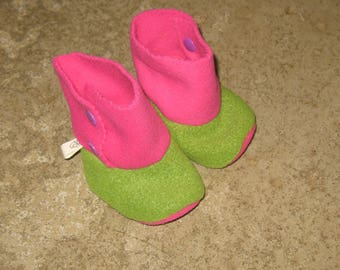 Slipper / boots polar green and rose3-6 months