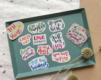 Strength - Short Quote Sticker Pack