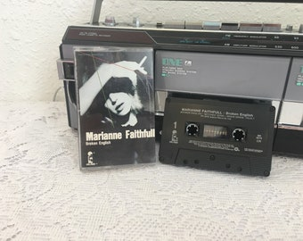 MARIANNE FAITHFULL: Broken English, vintage cassette tape, music cassette