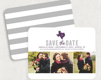 Texas Save the Dates, State Save the Date Cards, Destination Wedding Save the Dates, Printable Save the Dates, Save the Date Postcards, DIY