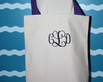 Valentines Day Gift - Custom Gift - Valentines Day Tote Bag - Gift for Her - Gift under 10 Dollars - Embroidered Tote Bag - Monogrammed Gift