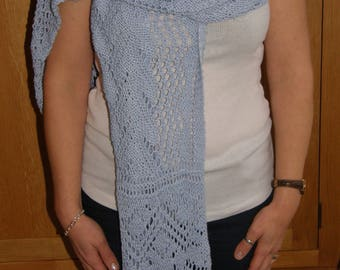 Hand Knitted Bamboo Lace Wrap/Shawl