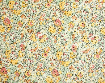Liberty of London Classic Claire Aude Tana Lawn fabric 100% Cotton in gold and yellow 1 yard