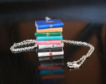 Outlander Mini Book Stack Necklace