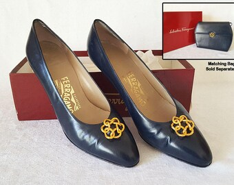 Salvatore Ferragamo Women's Ladie's Navy Shoes