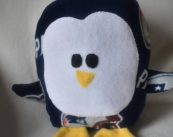 Plush New England Patriots Penguin Pillow Pal, Baby Safe, Machine Wash and Dry