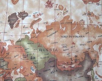 Money gift world map beige pvc coated fabric waterproof pattern world map gumiabroncs Choice Image