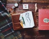 Personalized Handmade Leather Golf Wallet / Scorecard Holder /  Horween Chestnut leather Golf Gifts for Men