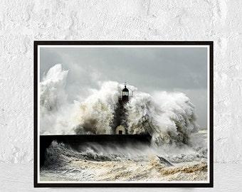 lighthouse print, coastal print, lighthouse photo, art decor, coastal wall art, ocean print, nautical print, fine art photography, seascape