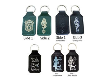 Harry Potter Keyrings, Severus Snape After All this Time! Always, Deatheater, Slytherin Leather Keyring