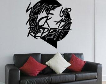 Vinyl Wall Decal Sticker Kick Ass Cycle 5455m