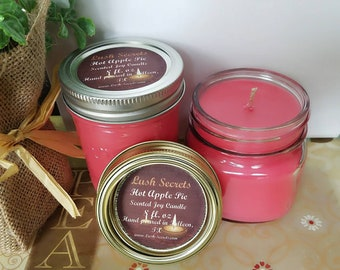 Apple Pie Joy Candle, Soy Candles, Hot Apple Pie Scented Candle