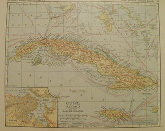 Large jamaica map etsy cuba mapjamaica mapbahama islands maphawaii mappanama canal map gumiabroncs Images