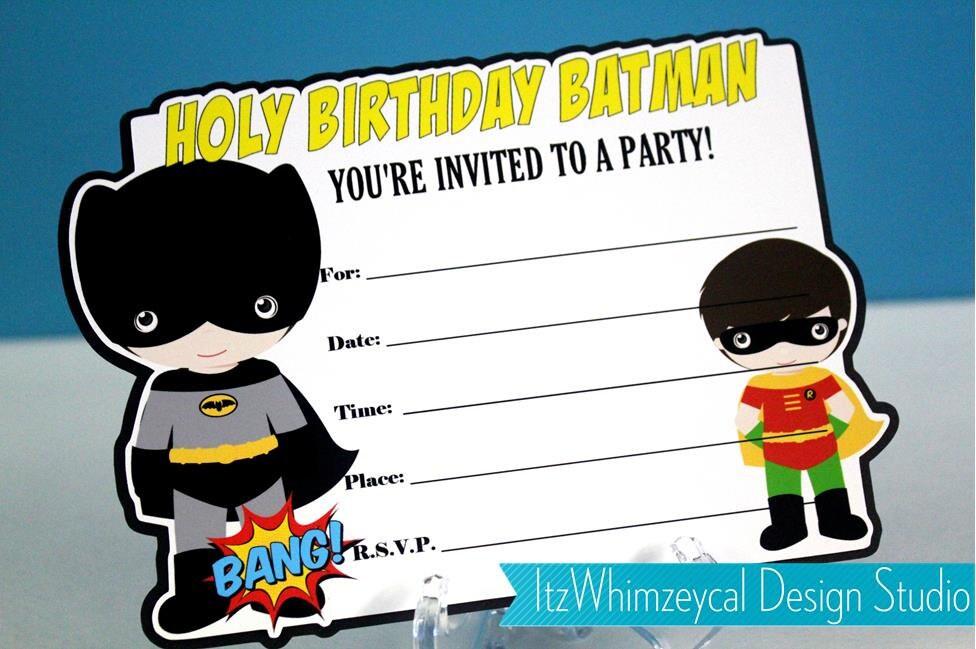 Classic Batman Robin Superhero Fill In The Blank Birthday