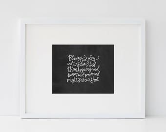 Blessing and Glory Print