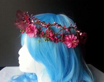 Mermaid headpiece , mermaid crown, fairy crown, fairy headpiece, burning man, mermaid flower crown, fairy flower crown, costume accessory