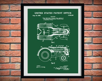 1939 John Deere Tractor Patent Print - McCormick Tractor - Art Print - Poster - Agriculture Art - Farmhouse Decor - Farming Print