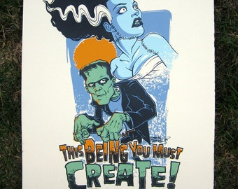This Being You Must Create - Screen Print on Bristol by Steve Chanks