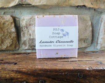 Lavender Chamomile Soap, Glycerin Soap, Lavender Soap, Handmade Soap, Soap, Bridal Shower Favors, Wedding Shower, Wedding, Lavender