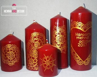 Henna Mehndi Candles Wedding Decor