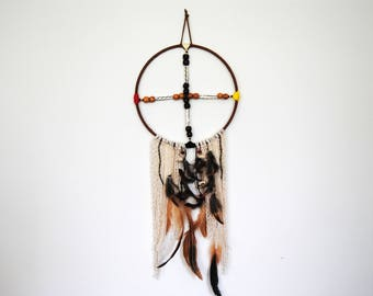 Medicine wheel dream catcher wall decoration ethnic native indian inspiration