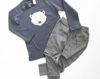 Kids clothing set - toddler boy clothes, shipping worldwide, Hip and stylish kids set, Organic kids clothes,