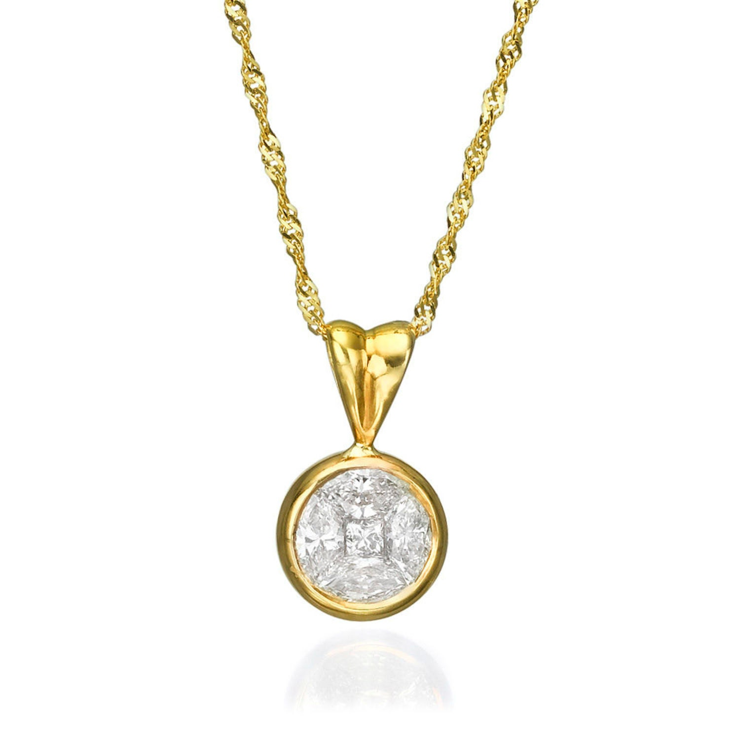 womens diamond from marquise image necklaces white necklace marquis pendant gold