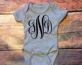 Customizable Monogram Infant Onesie