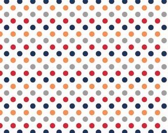 Riley Blake Designs, Small Dots in Boy (C350 02)