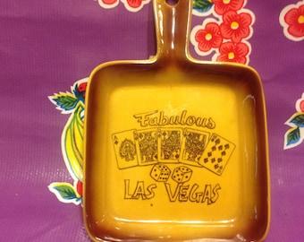 Vintage ceramic spoon rest wall hanging Fabulous Las Vegas- Made in Japan