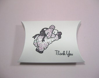 10 Baby Shower Favor Boxes - Baby Girl - Baby Lamb - Pillow Boxes - Candy Boxes - Gift Boxes - Favor Boxes - New Baby
