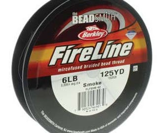 Fireline, 6 LB, 125 yard spool, Smoke